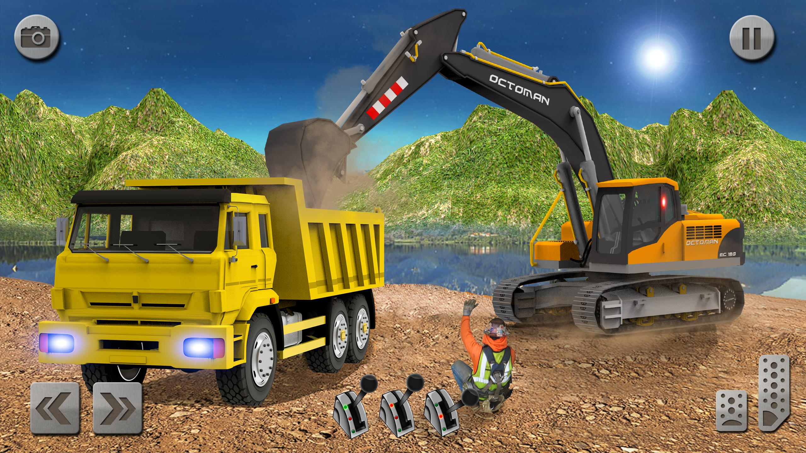 Sand Excavator Truck Driving Rescue Simulator game 5.2 Screenshot 7