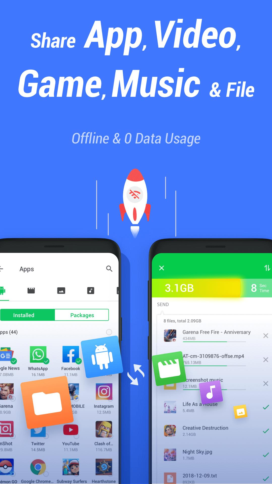 InShare Share Apps & File Transfer 1.2.1.4 Screenshot 1