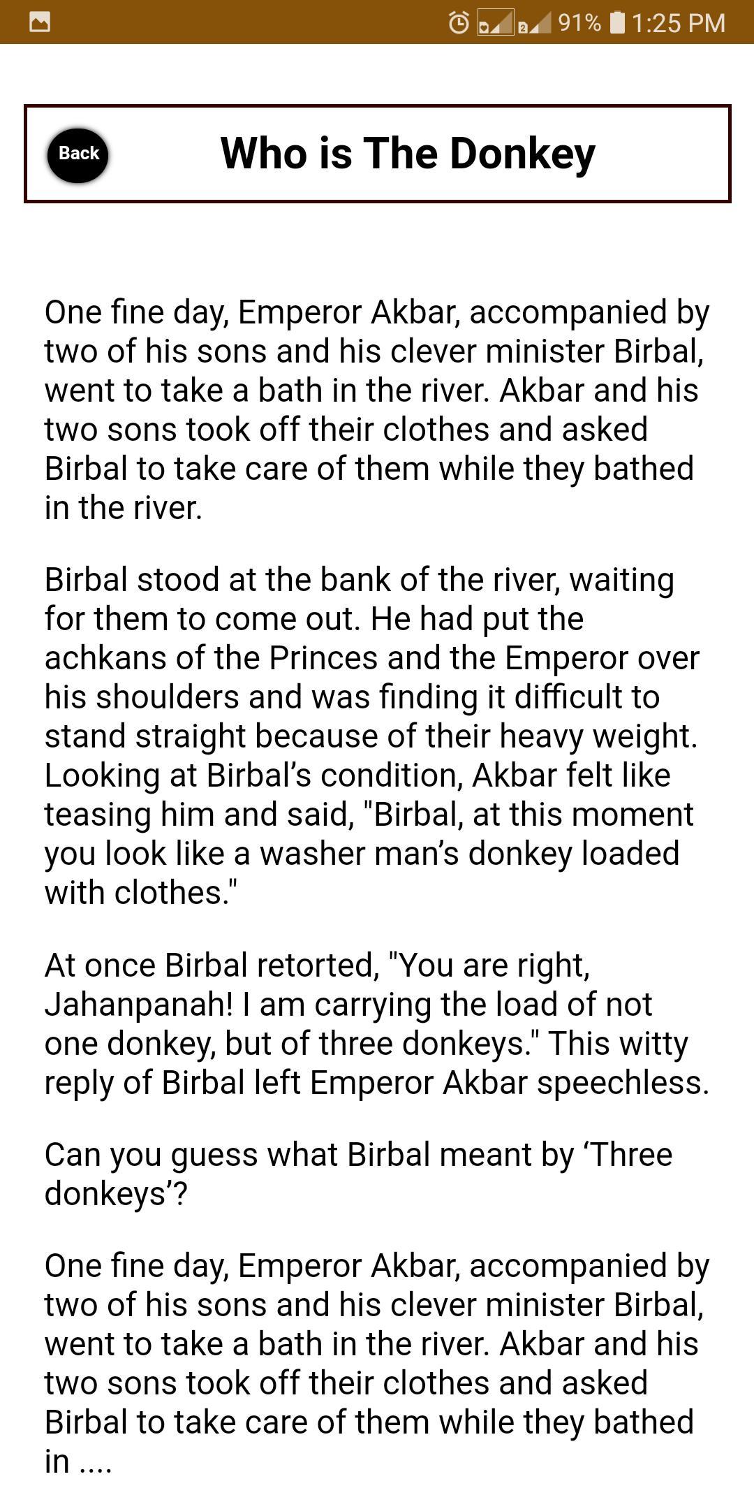 Akbar Birbal Story In English 7.0.0 Screenshot 7