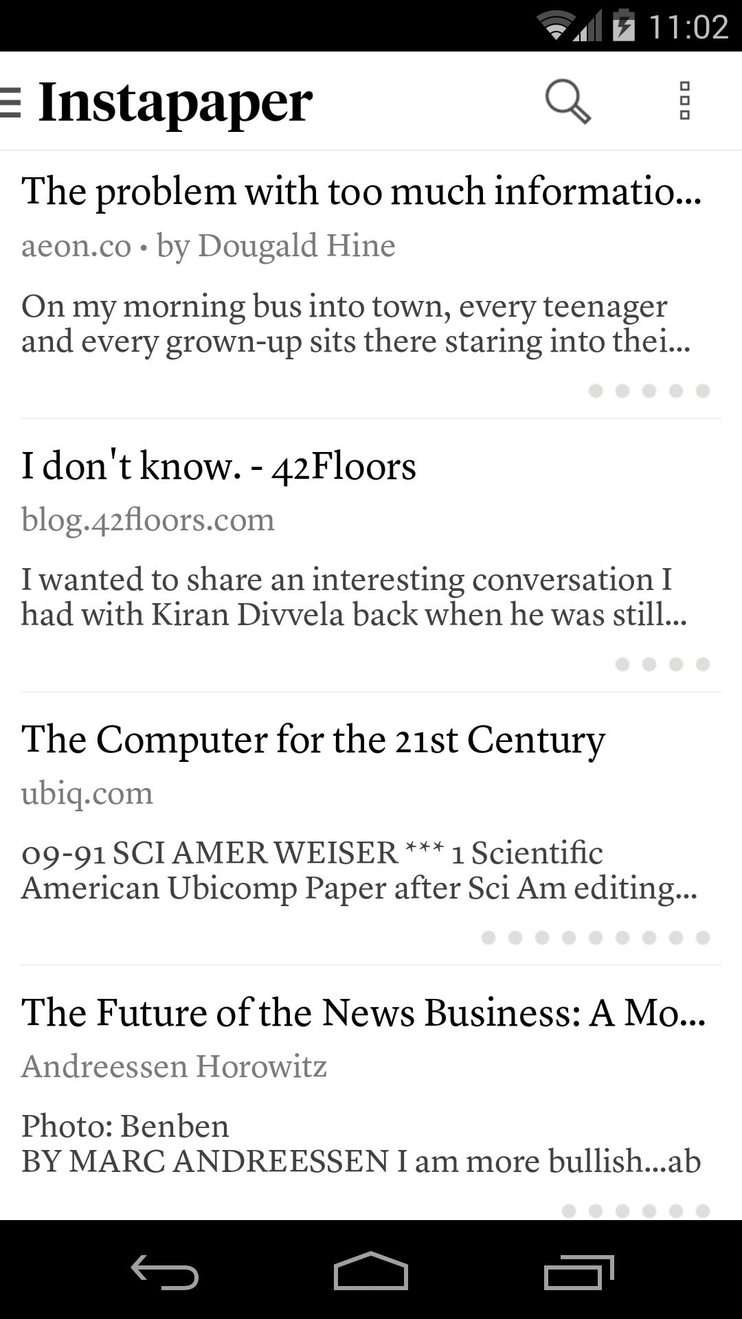 Instapaper 4.5 Screenshot 1