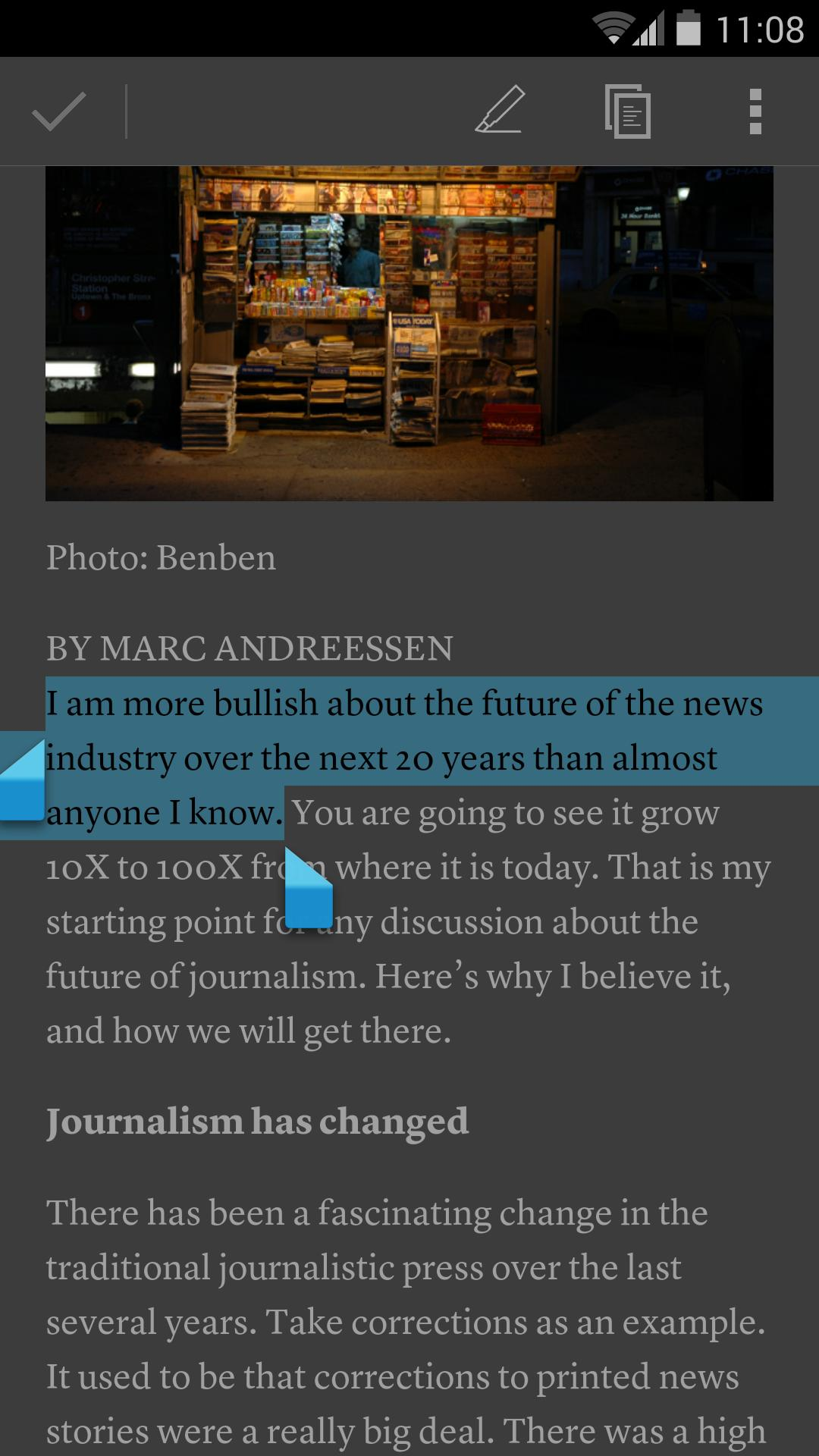 Instapaper 4.5 Screenshot 5