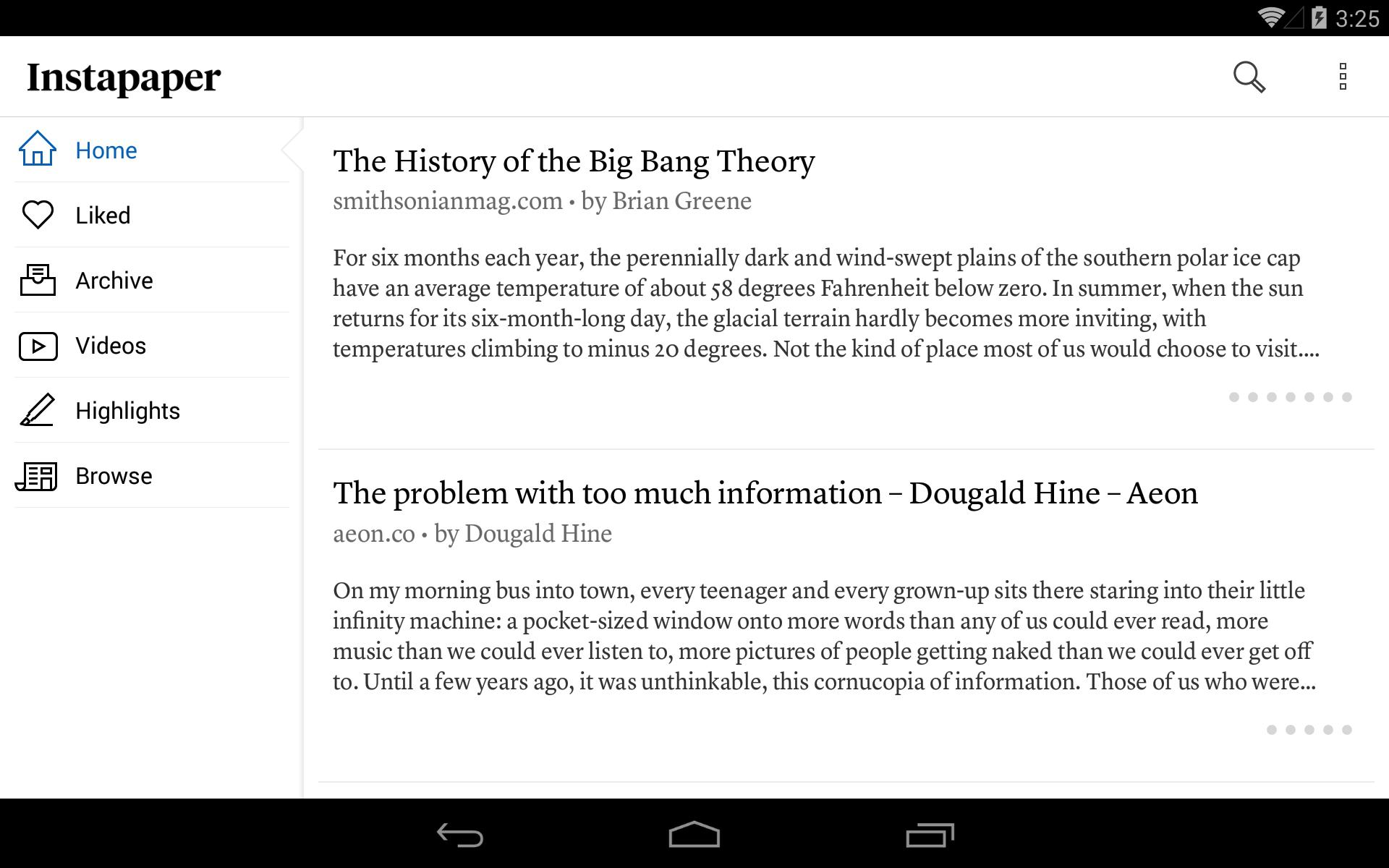 Instapaper 4.5 Screenshot 8