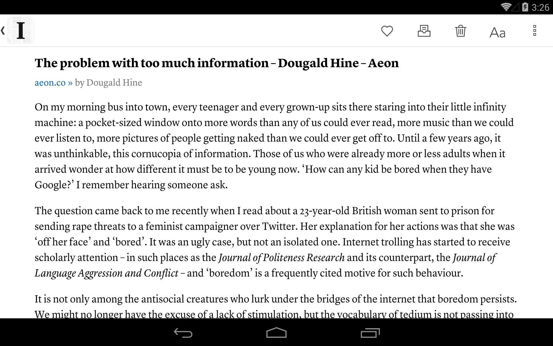 Instapaper 4.5 Screenshot 9