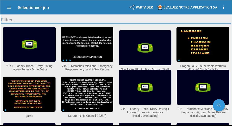 GBA Emulator 1.0 Screenshot 2