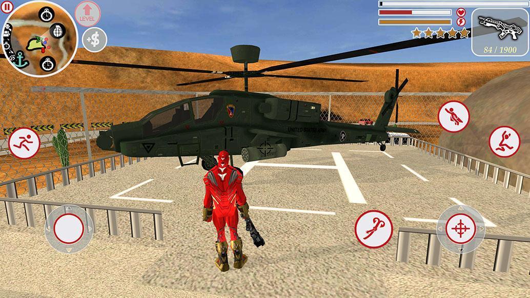 Super Iron Rope Hero - Fighting Gangstar Crime 3.6 Screenshot 1