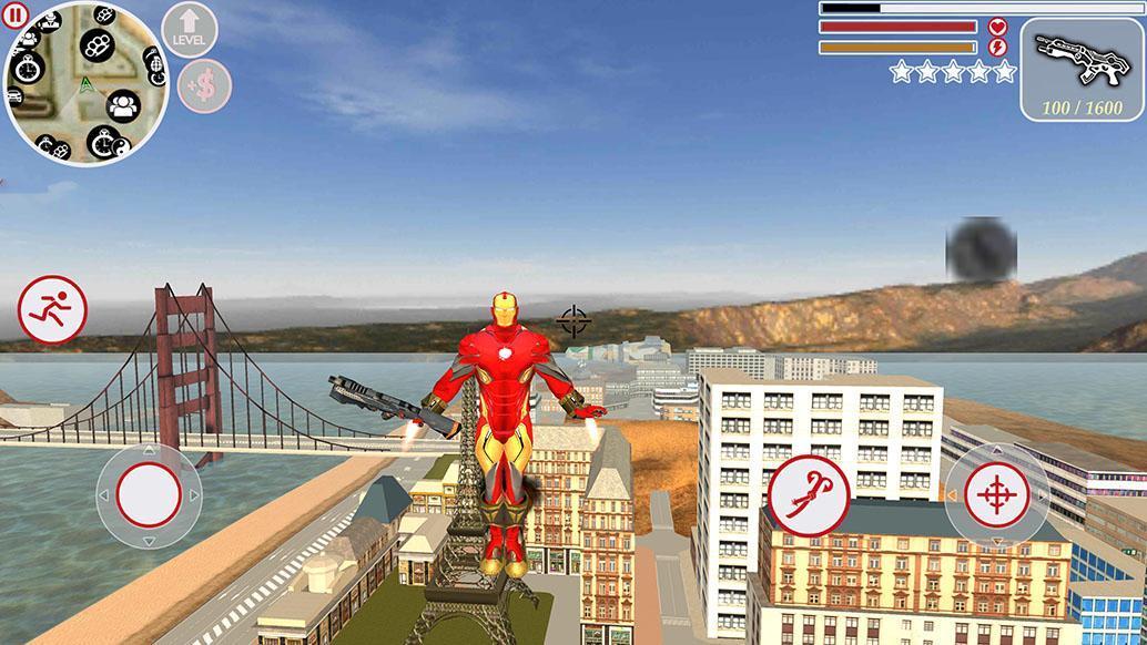 Super Iron Rope Hero - Fighting Gangstar Crime 3.6 Screenshot 3