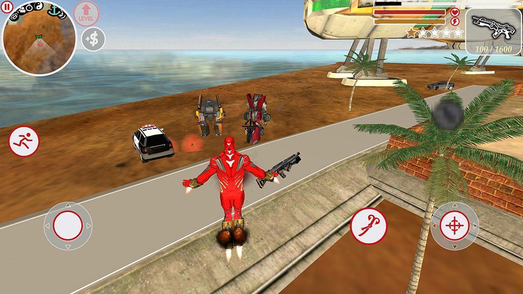 Super Iron Rope Hero - Fighting Gangstar Crime 3.6 Screenshot 5