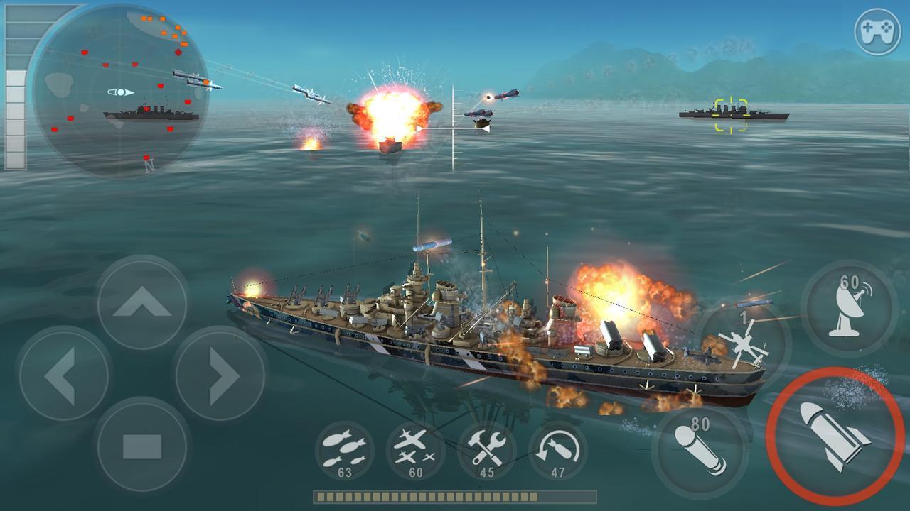 WARSHIP BATTLE 3D World War II 3.1.7 Screenshot 1