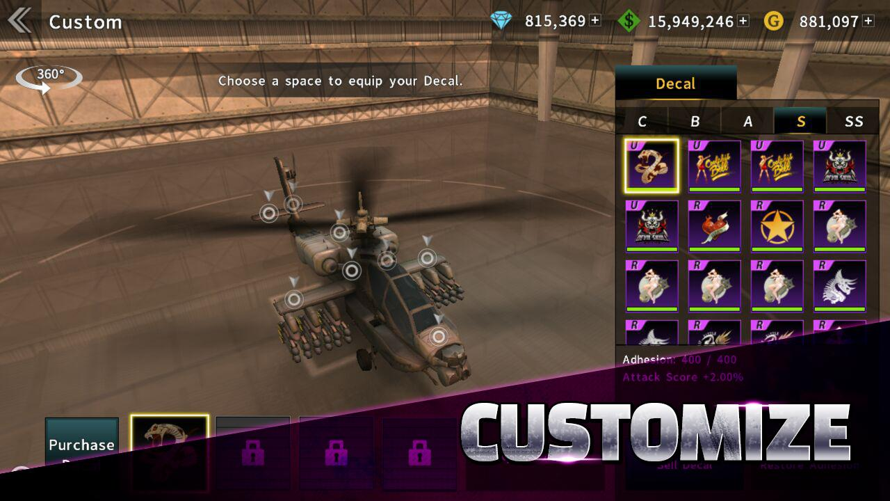 GUNSHIP BATTLE Helicopter 3D 2.7.83 Screenshot 5