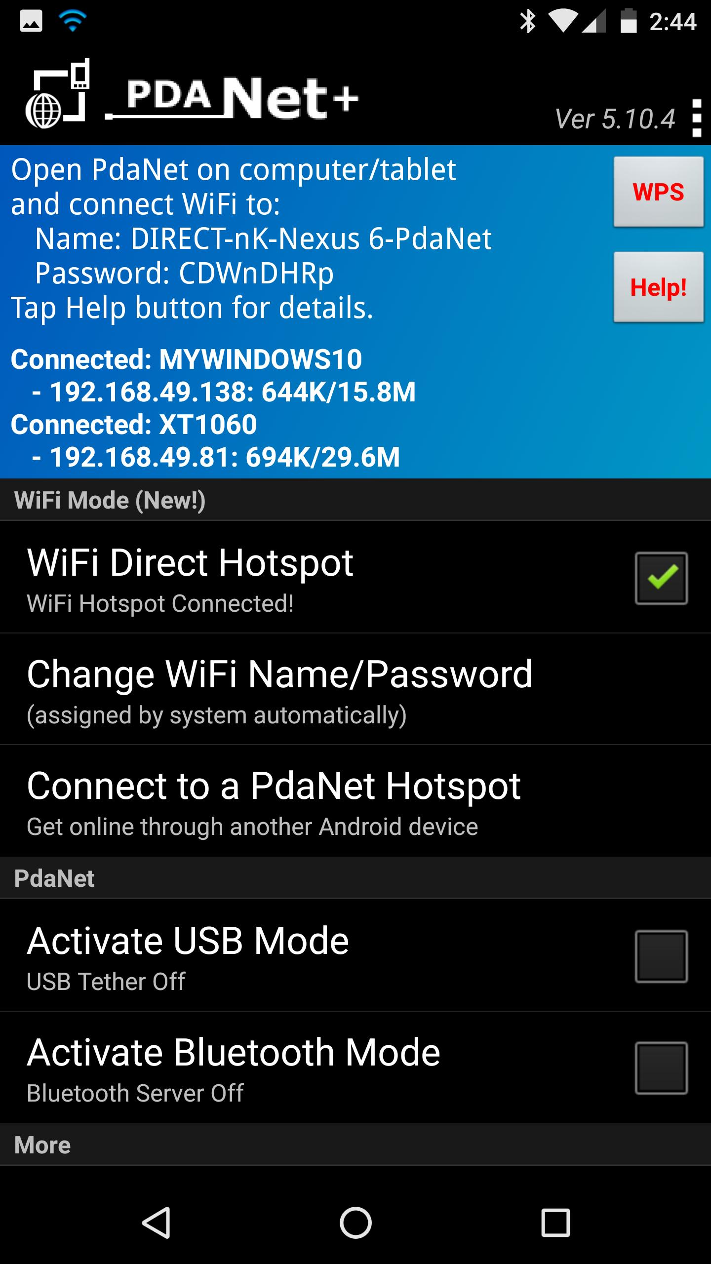 PdaNet+ 5.22 Screenshot 1
