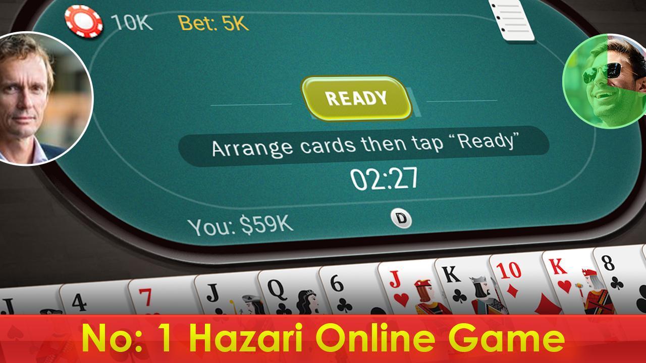 Hazari (হাজারী) - 1000 Points Card Game 3.2 Screenshot 1