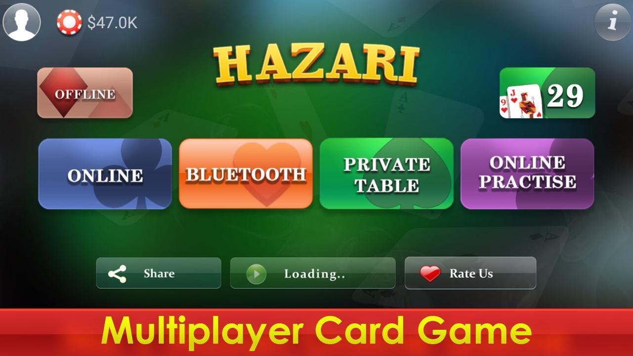 Hazari (হাজারী) - 1000 Points Card Game 3.2 Screenshot 7