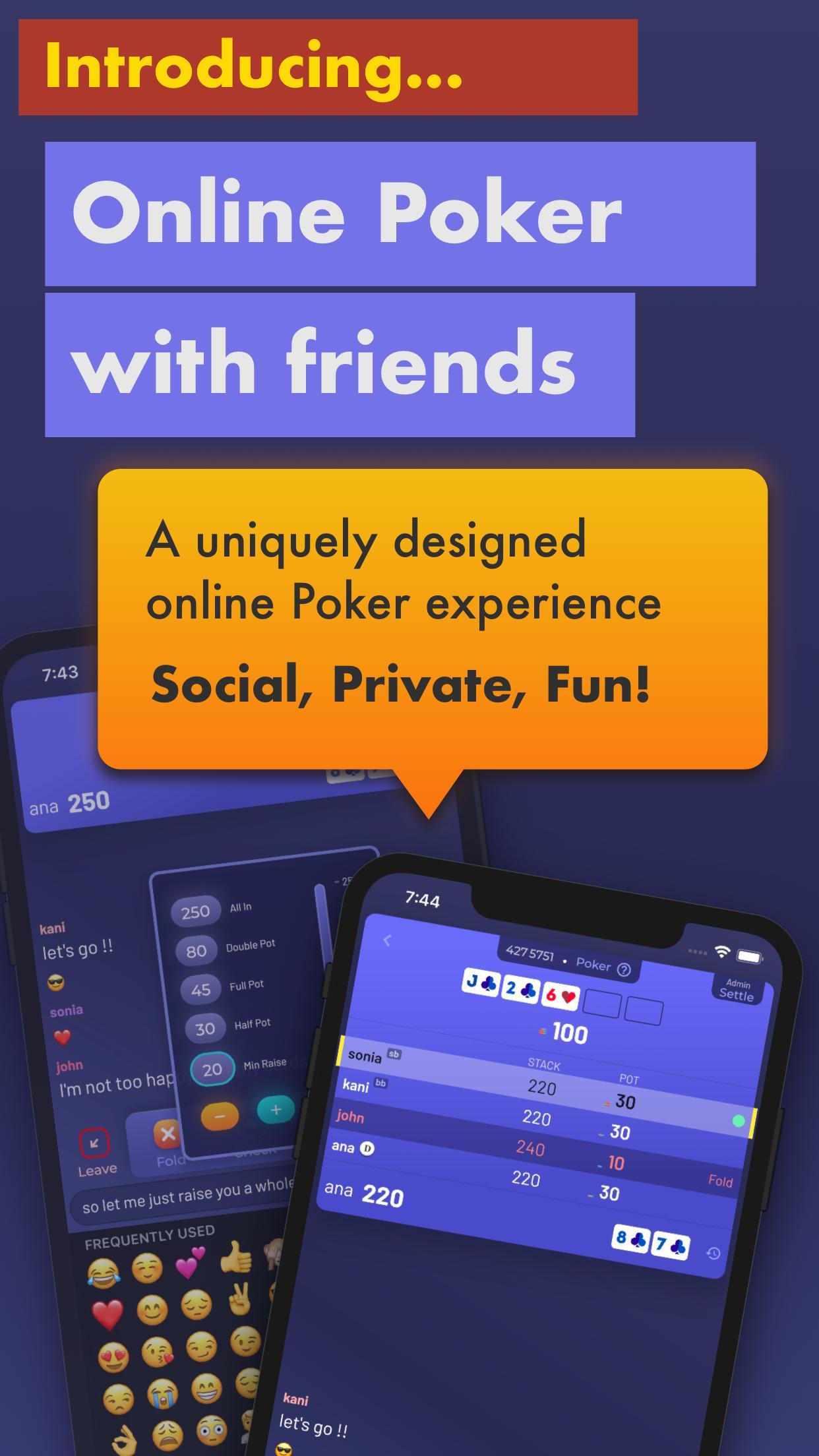 Chips of Fury Virtual Poker Chips, Poker Table 2.0.6 Screenshot 1