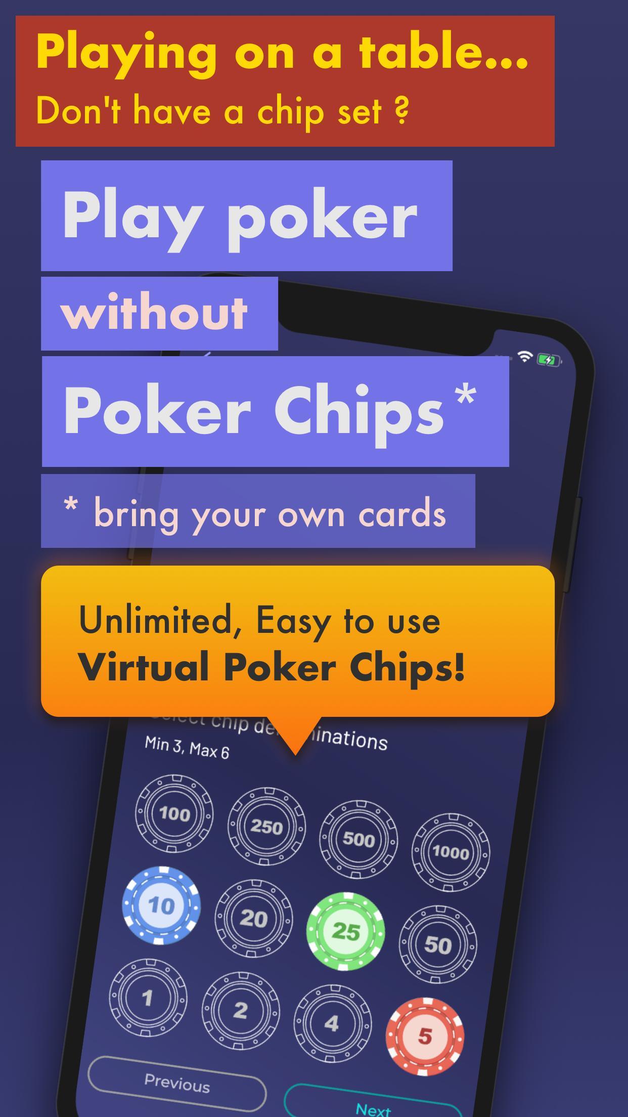 Chips of Fury Virtual Poker Chips, Poker Table 2.0.6 Screenshot 2