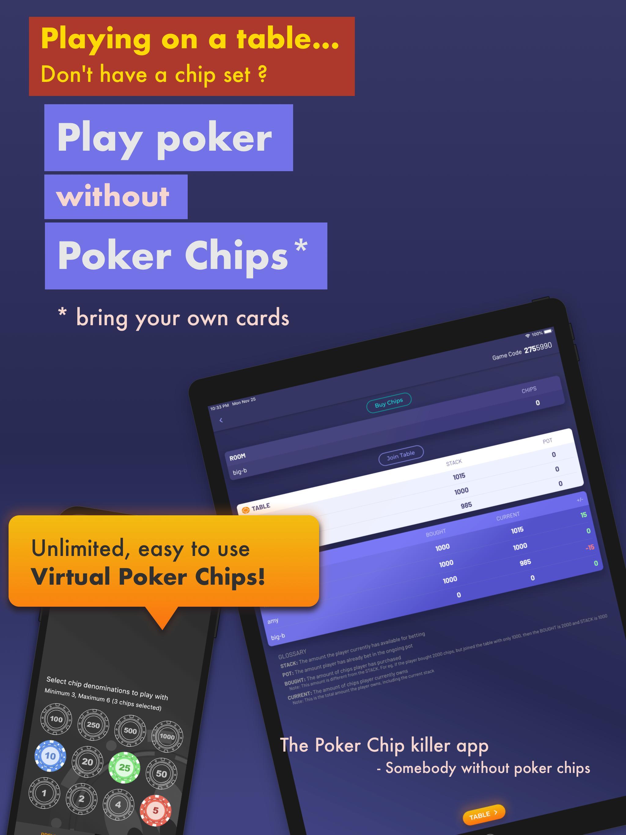Chips of Fury Virtual Poker Chips, Poker Table 2.0.6 Screenshot 5