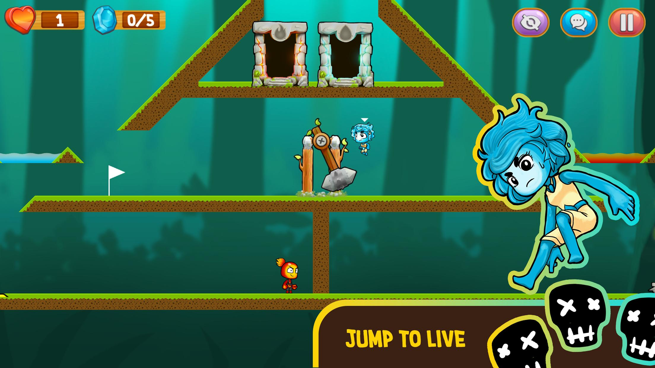 Fire and Water: Online co-op game for boy and girl 2.3.0 Screenshot 2