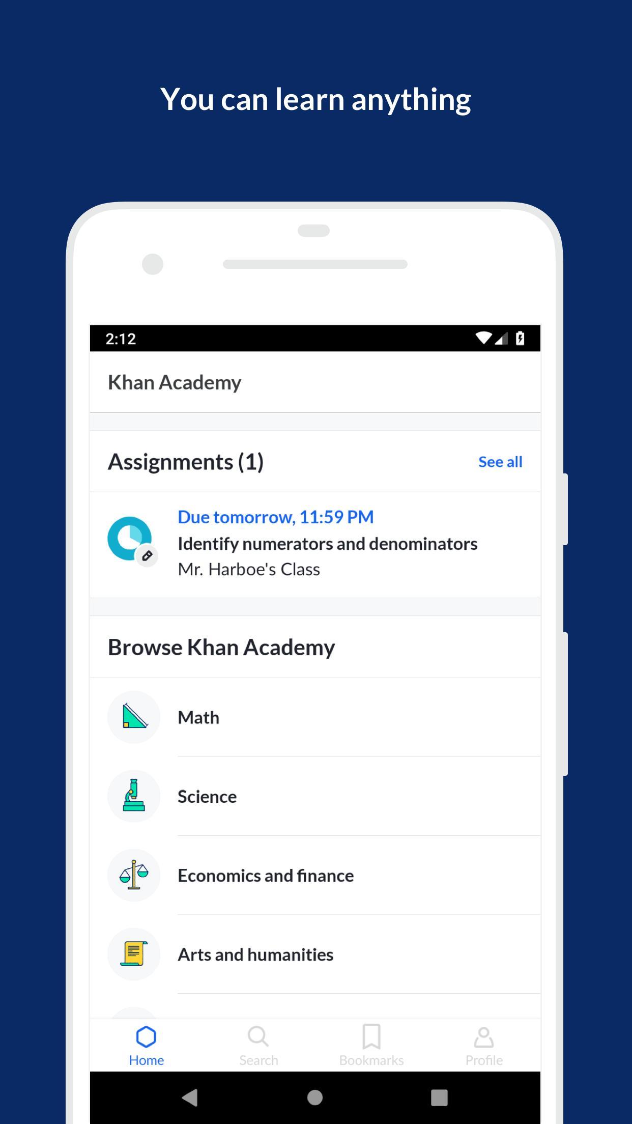 Khan Academy 6.6.0 Screenshot 1