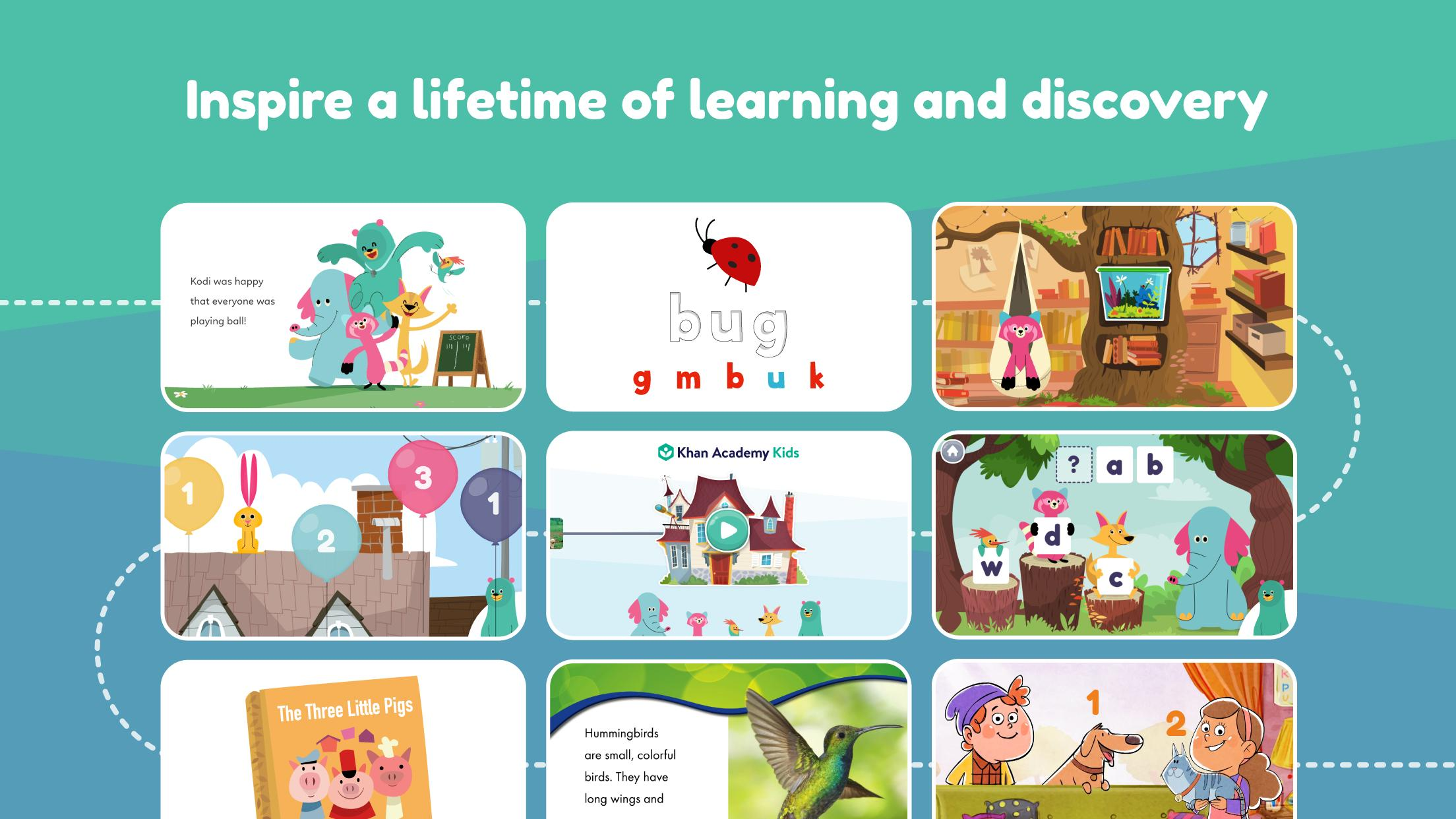 Khan Academy Kids: Free educational games & books 2.5 Screenshot 1