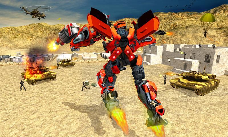 Futuristic Train Real Robot Transformation Game 1.3.0 Screenshot 1