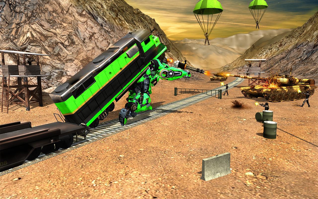 Futuristic Train Real Robot Transformation Game 1.3.0 Screenshot 10