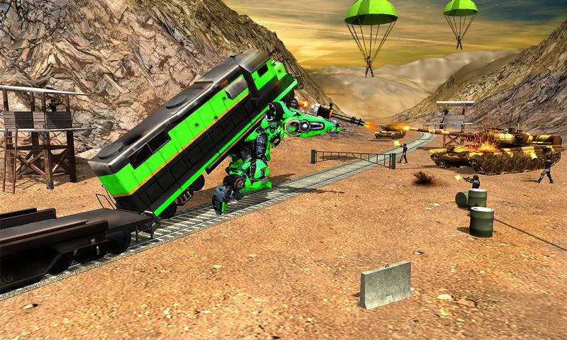 Futuristic Train Real Robot Transformation Game 1.3.0 Screenshot 5