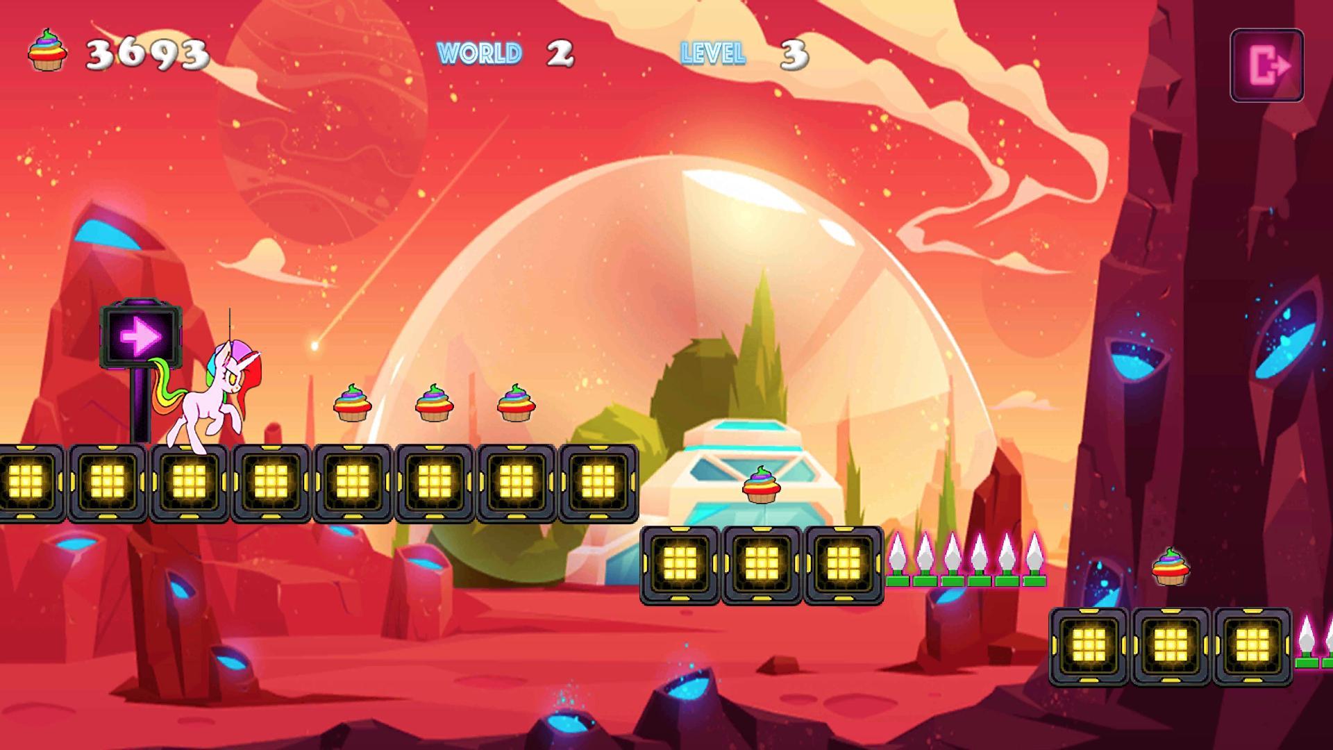 Unicorn Dash Neon Lights Unicorn Games mlp games 2.8.105 Screenshot 10