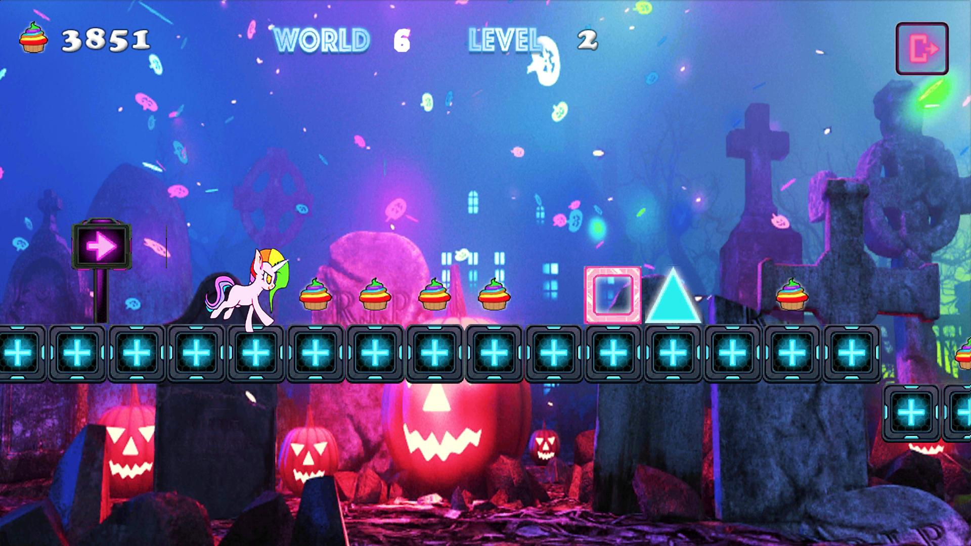 Unicorn Dash Neon Lights Unicorn Games mlp games 2.8.105 Screenshot 14