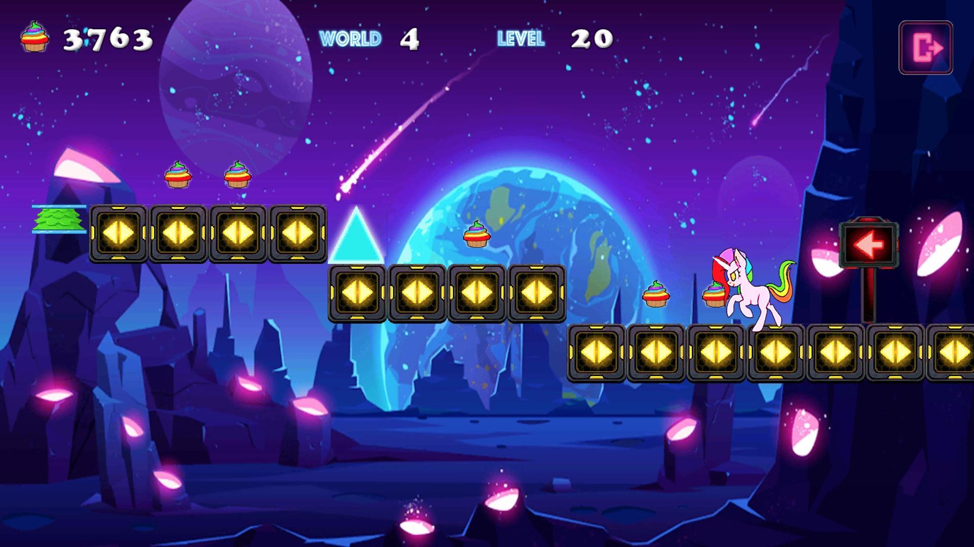 Unicorn Dash Neon Lights Unicorn Games mlp games 2.8.105 Screenshot 4