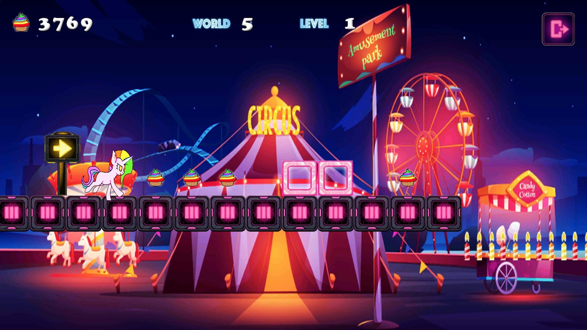 Unicorn Dash Neon Lights Unicorn Games mlp games 2.8.105 Screenshot 5