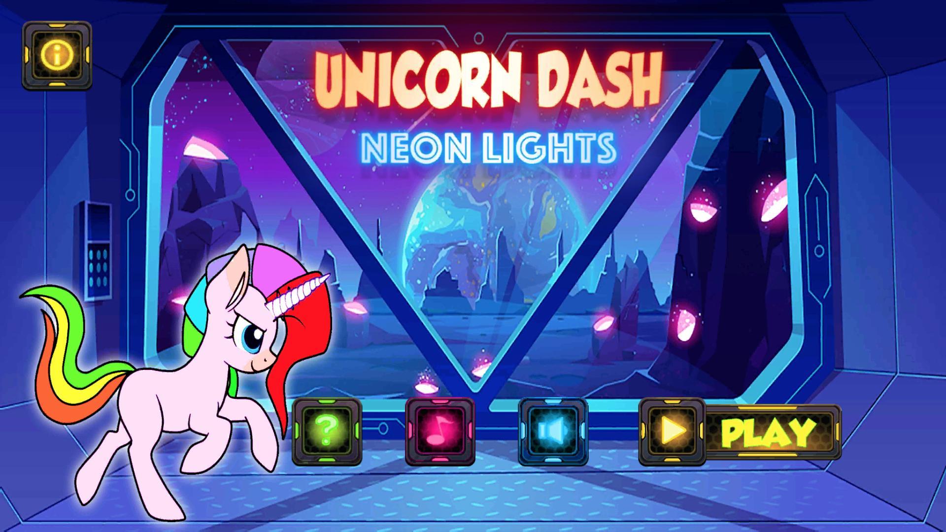 Unicorn Dash Neon Lights Unicorn Games mlp games 2.8.105 Screenshot 7