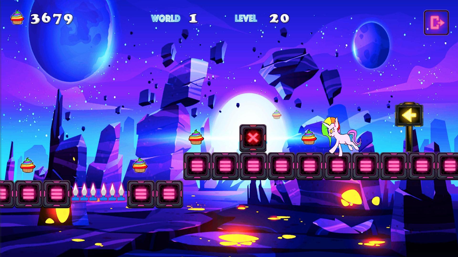 Unicorn Dash Neon Lights Unicorn Games mlp games 2.8.105 Screenshot 9