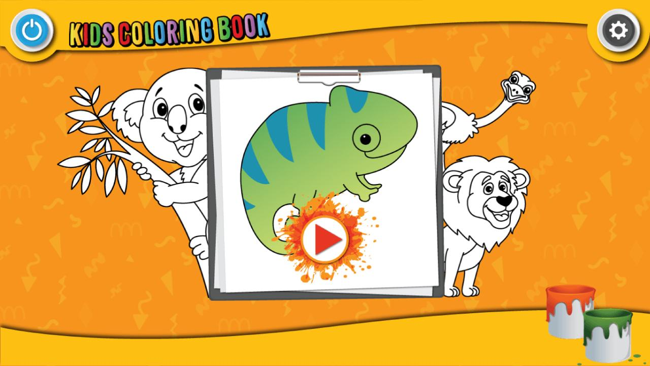 Kids Coloring Book : Cute Animals Coloring Pages 1.0.1.4 Screenshot 1