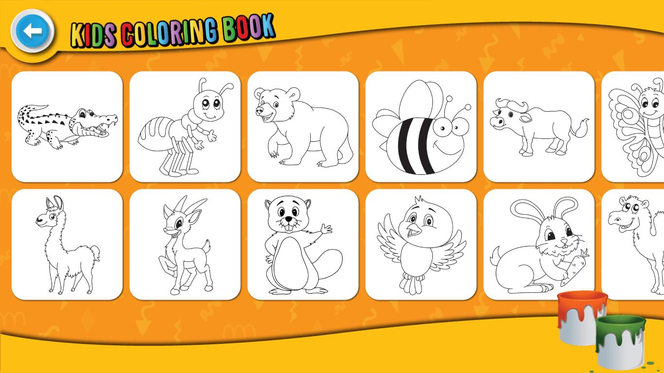 Kids Coloring Book : Cute Animals Coloring Pages 1.0.1.4 Screenshot 10
