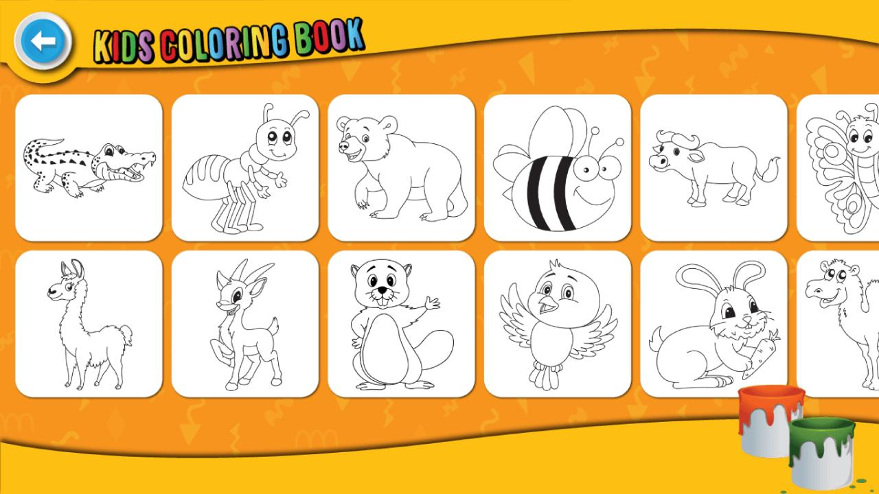 Kids Coloring Book : Cute Animals Coloring Pages 1.0.1.4 Screenshot 2