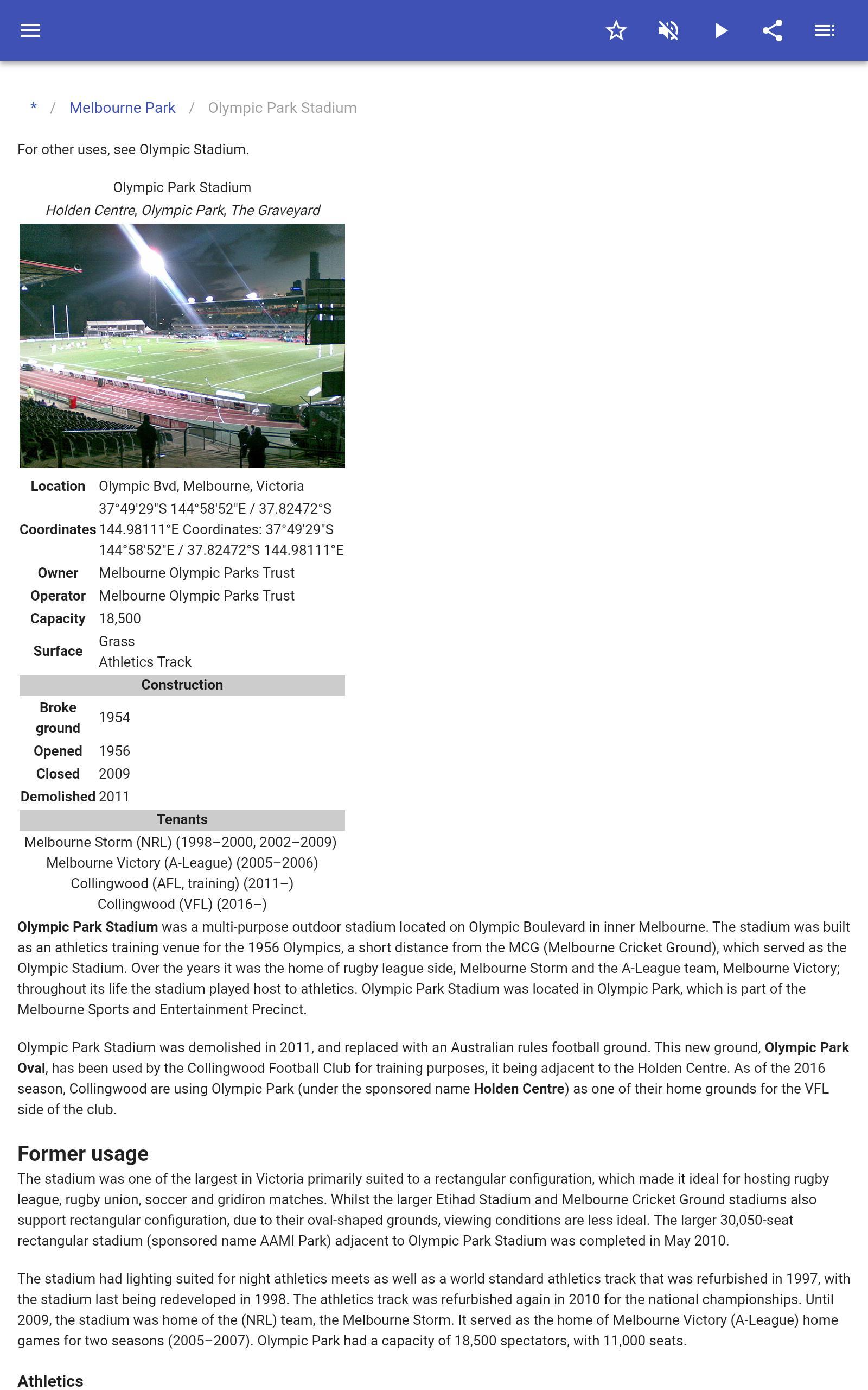 Stadiums 8.5.4 Screenshot 8