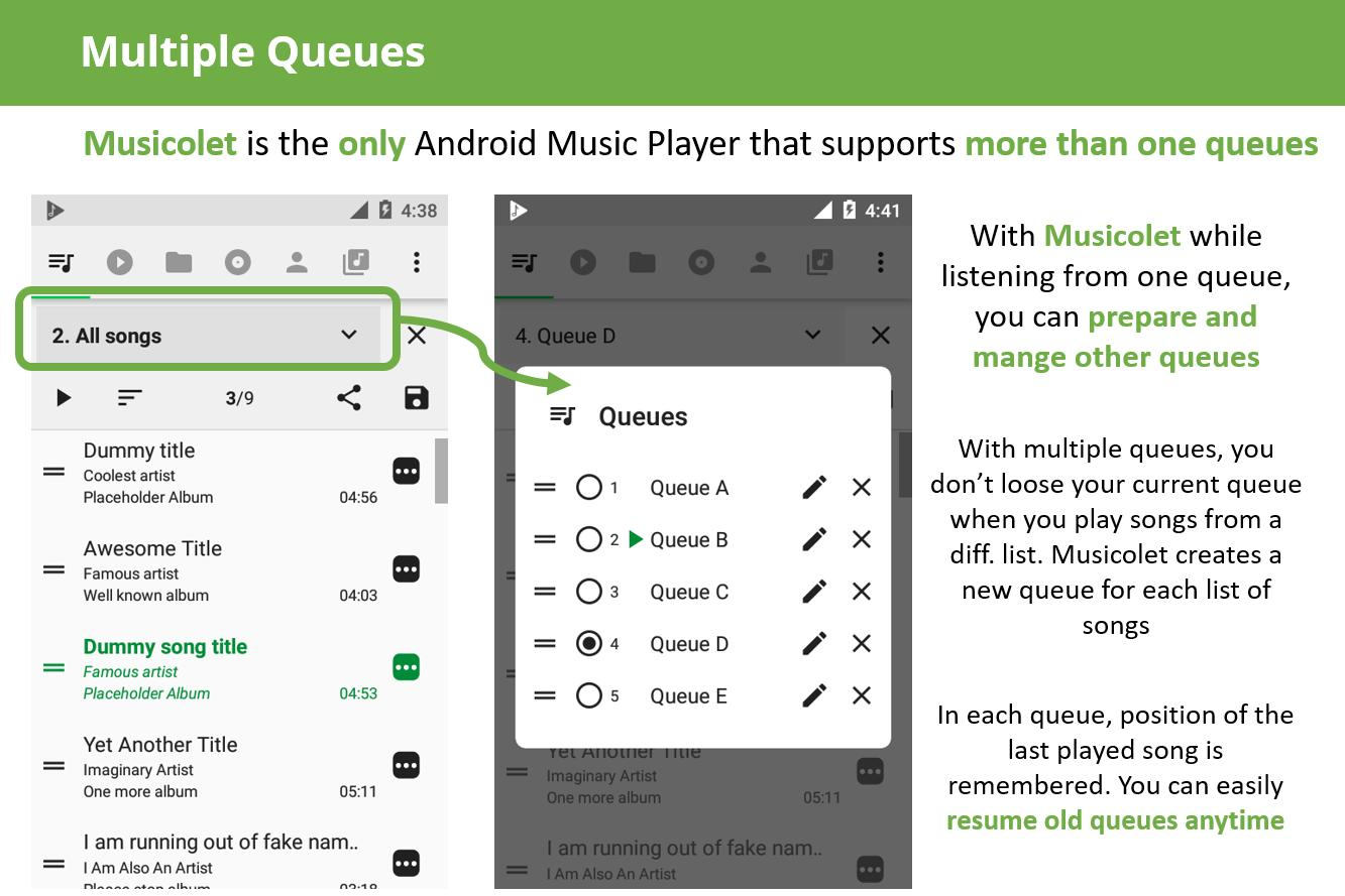 Musicolet Music Player [Free, No ads] 4.2.1 build182 Screenshot 2