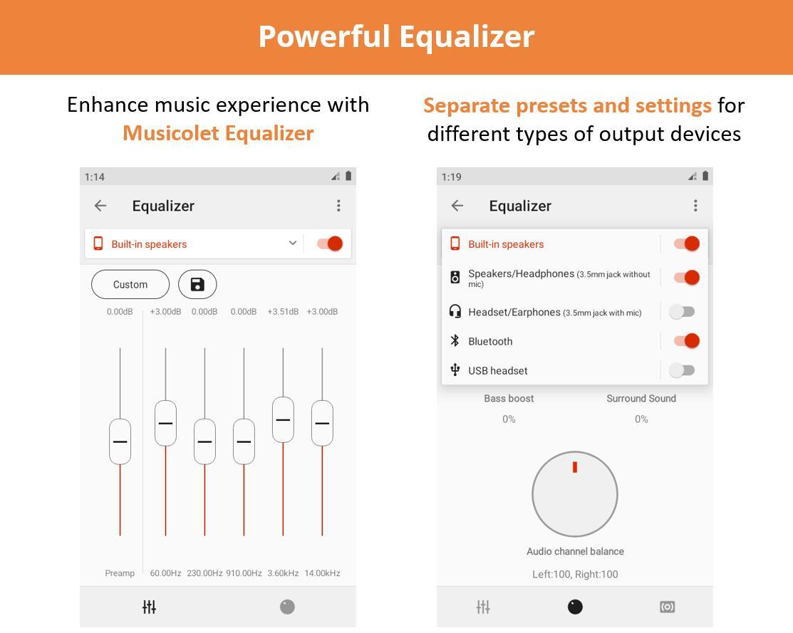 Musicolet Music Player [Free, No ads] 4.2.1 build182 Screenshot 3
