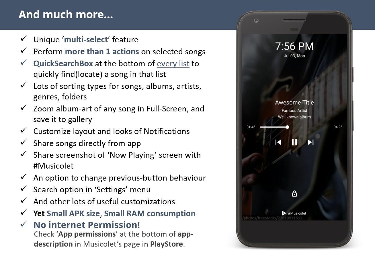 Musicolet Music Player [Free, No ads] 4.2.1 build182 Screenshot 8