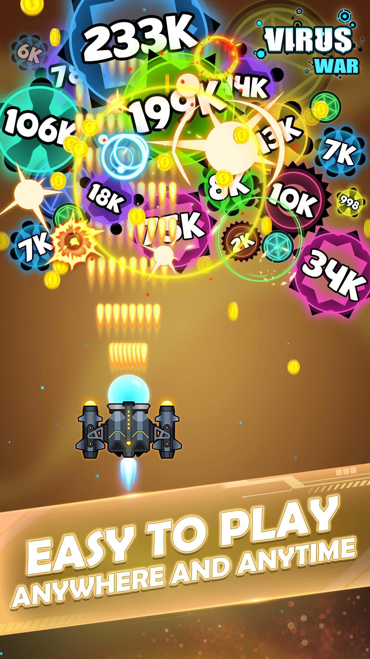Virus War Space Shooting Game 1.7.9 Screenshot 3