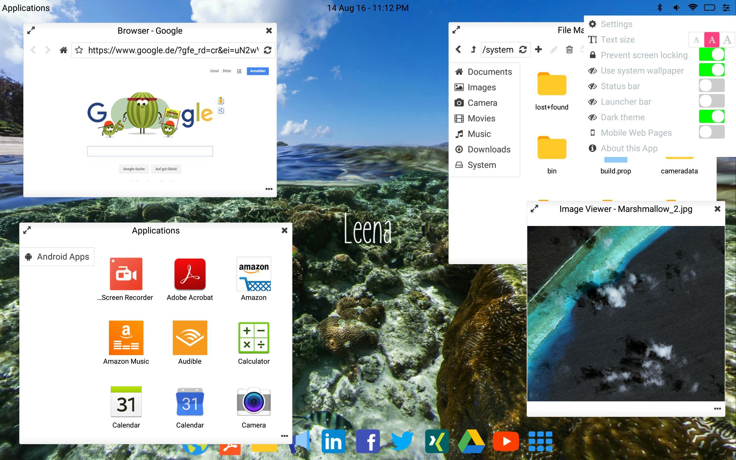 Leena Desktop UI (Multiwindow) 0.4.2 Screenshot 3