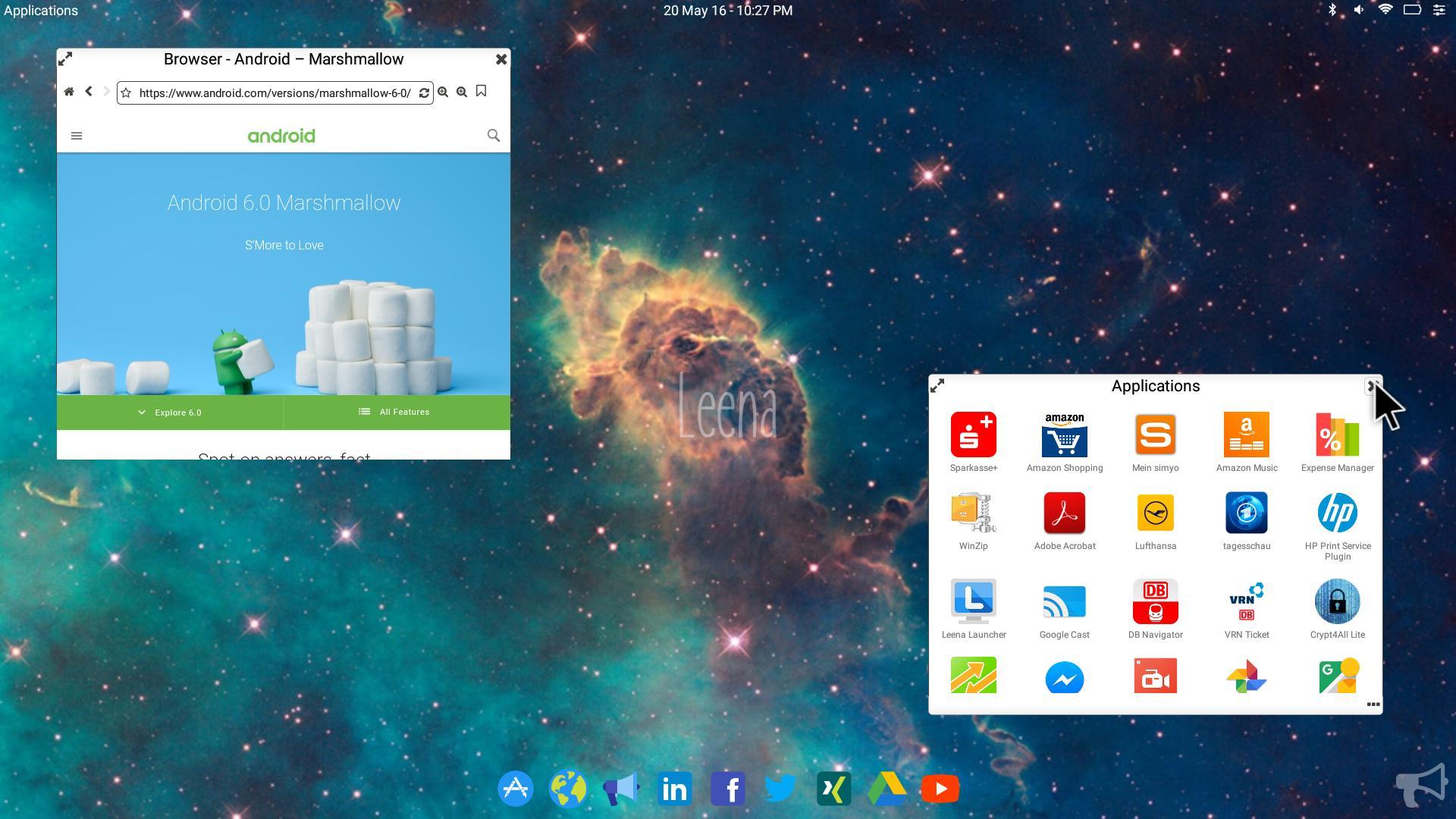 Leena Desktop UI (Multiwindow) 0.4.2 Screenshot 4