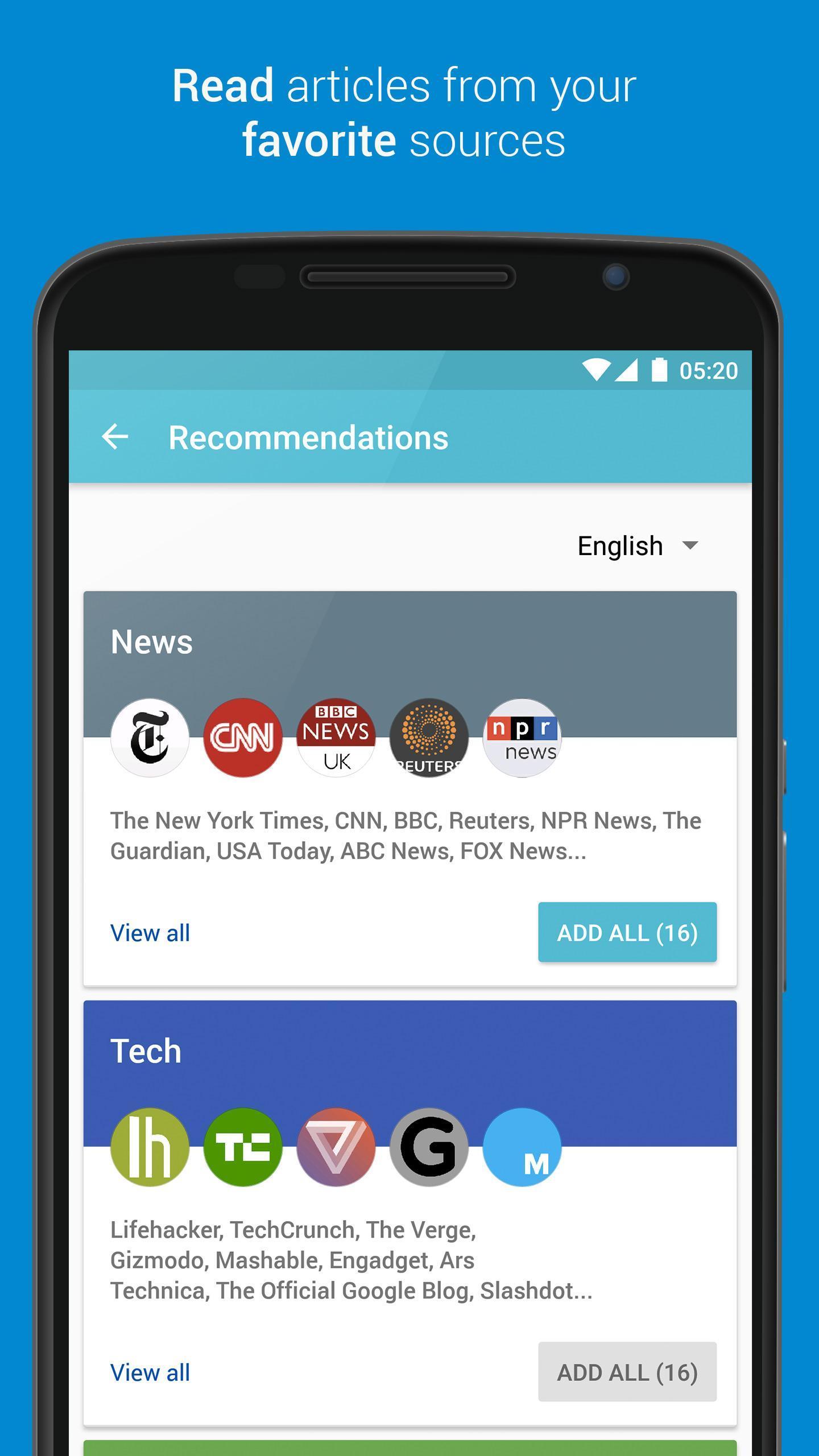 Palabre Feedly RSS Reader News 3.2.4 Screenshot 2