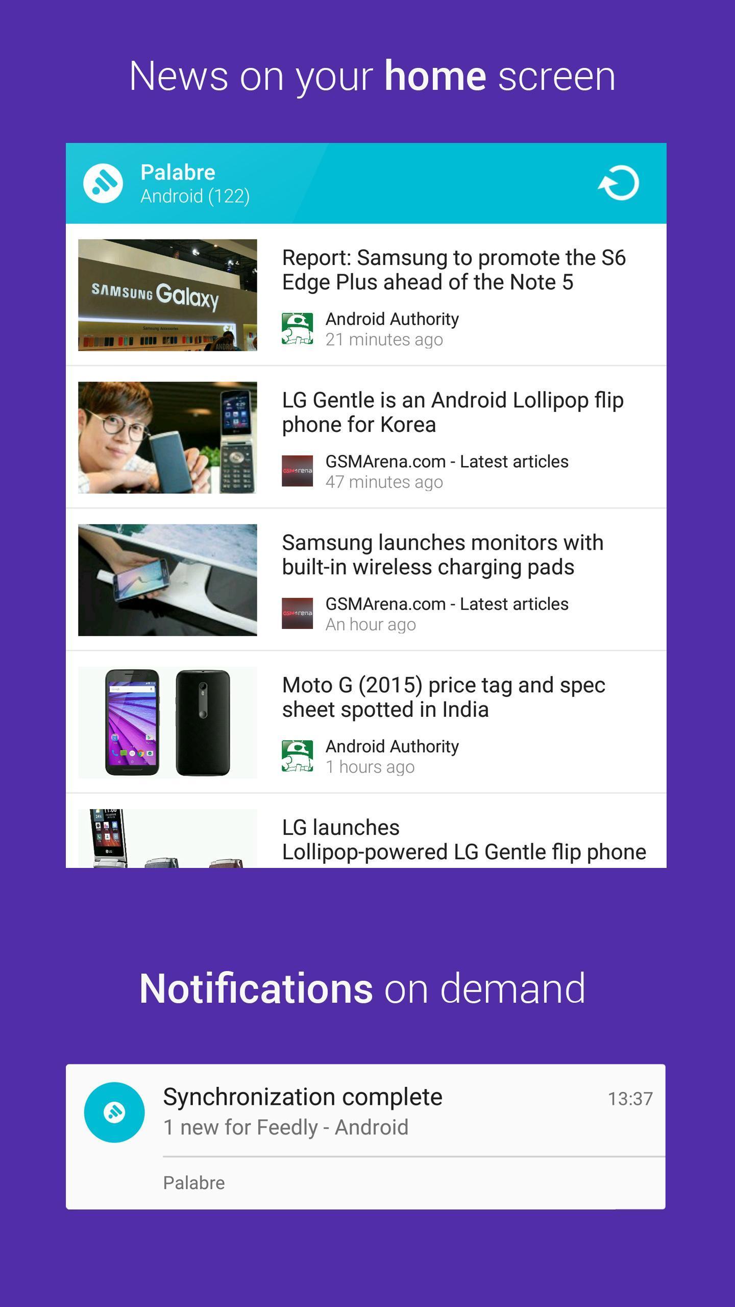 Palabre Feedly RSS Reader News 3.2.4 Screenshot 5