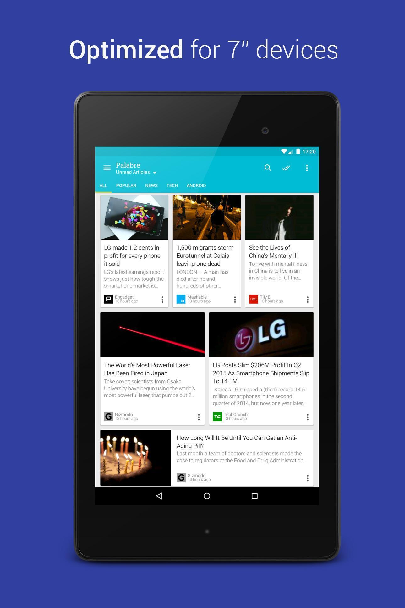 Palabre Feedly RSS Reader News 3.2.4 Screenshot 8