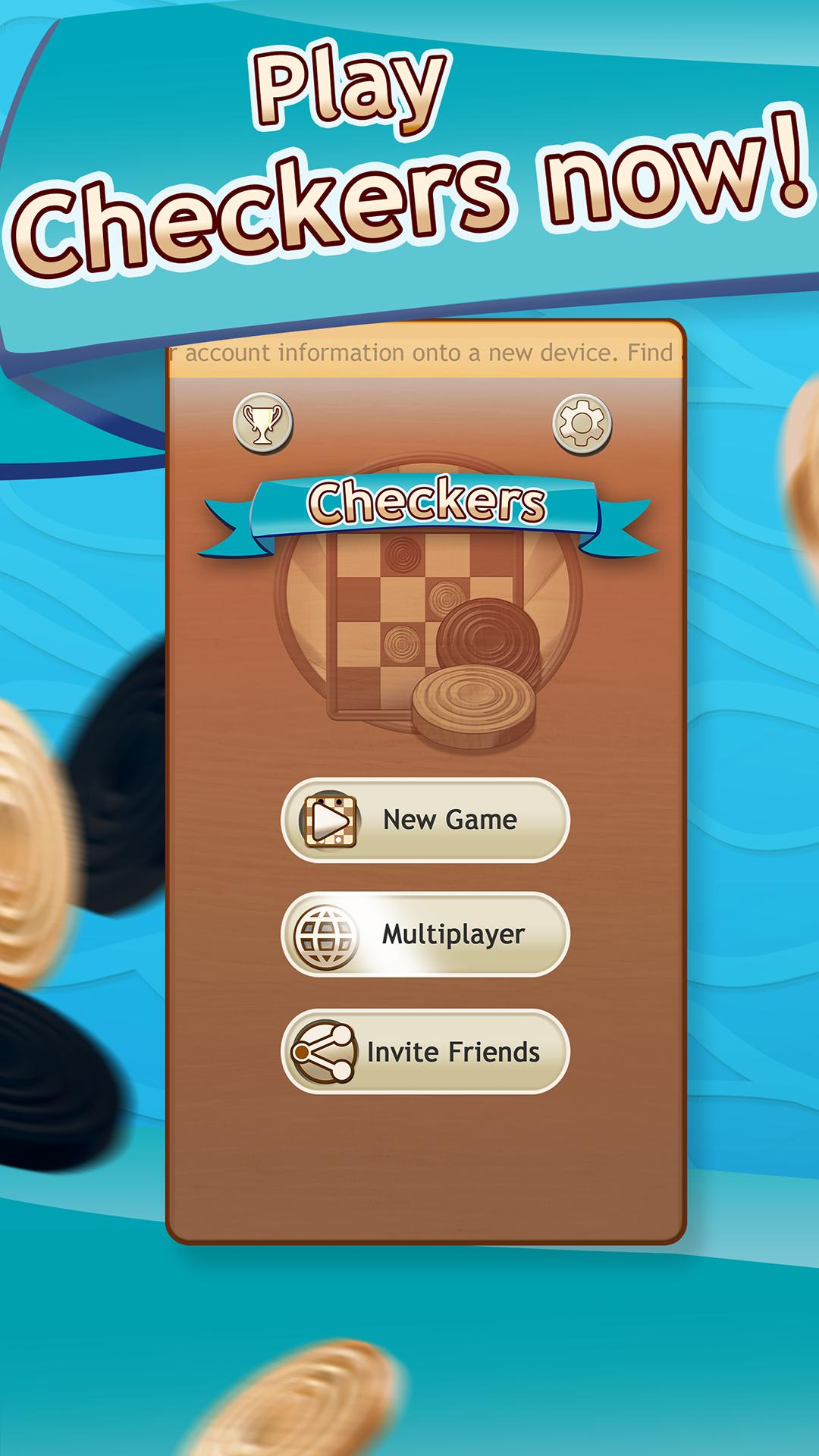 Checkers Draughts Multiplayer Board Game 2.4.4 Screenshot 1