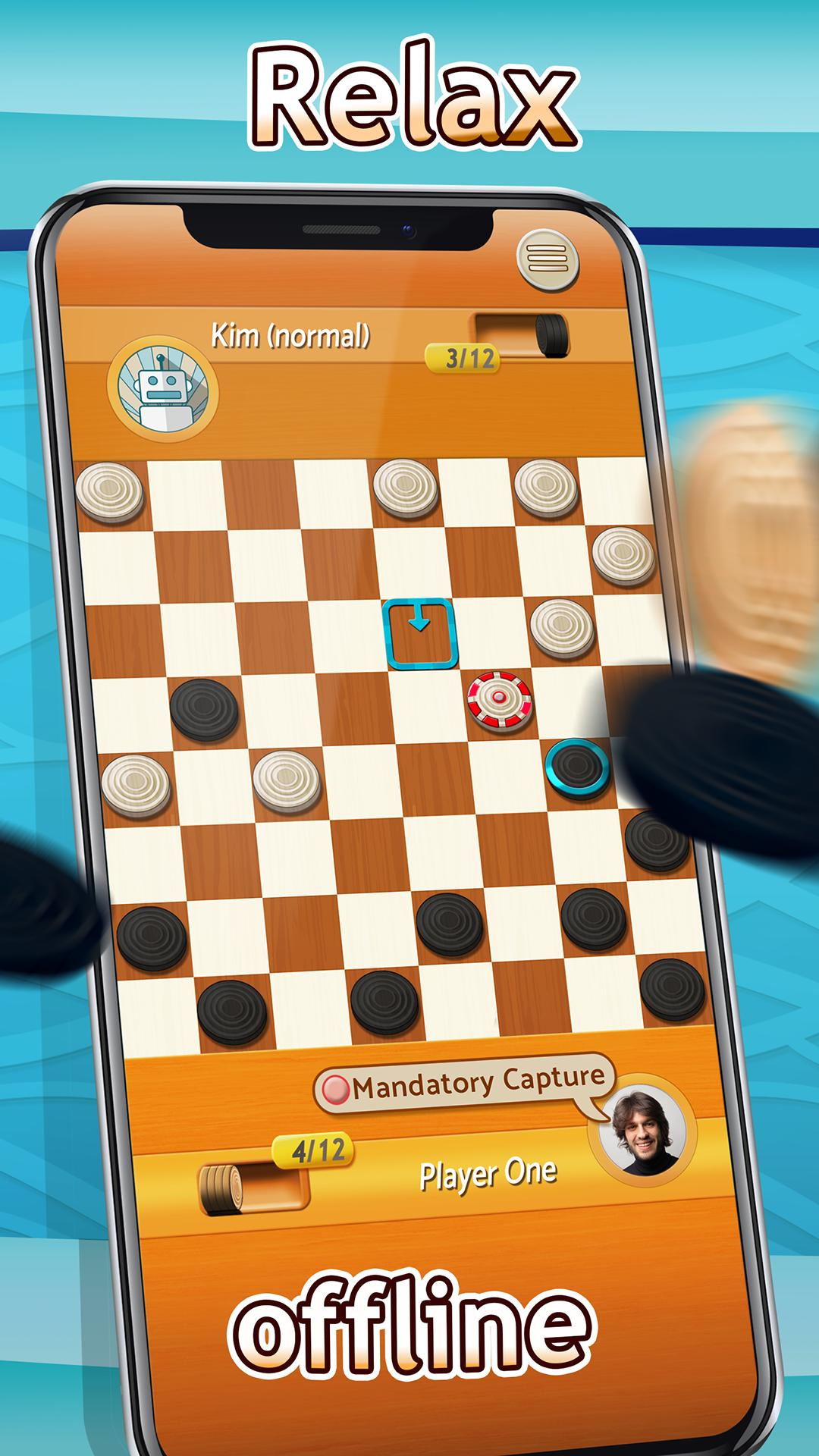 Checkers Draughts Multiplayer Board Game 2.4.4 Screenshot 2