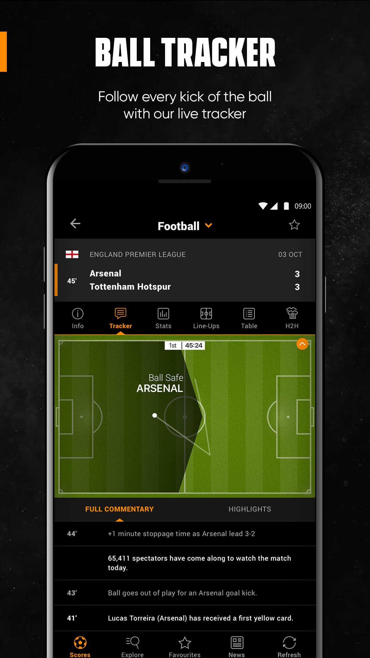 LiveScore Live Sport Updates 3.1.1 Screenshot 3