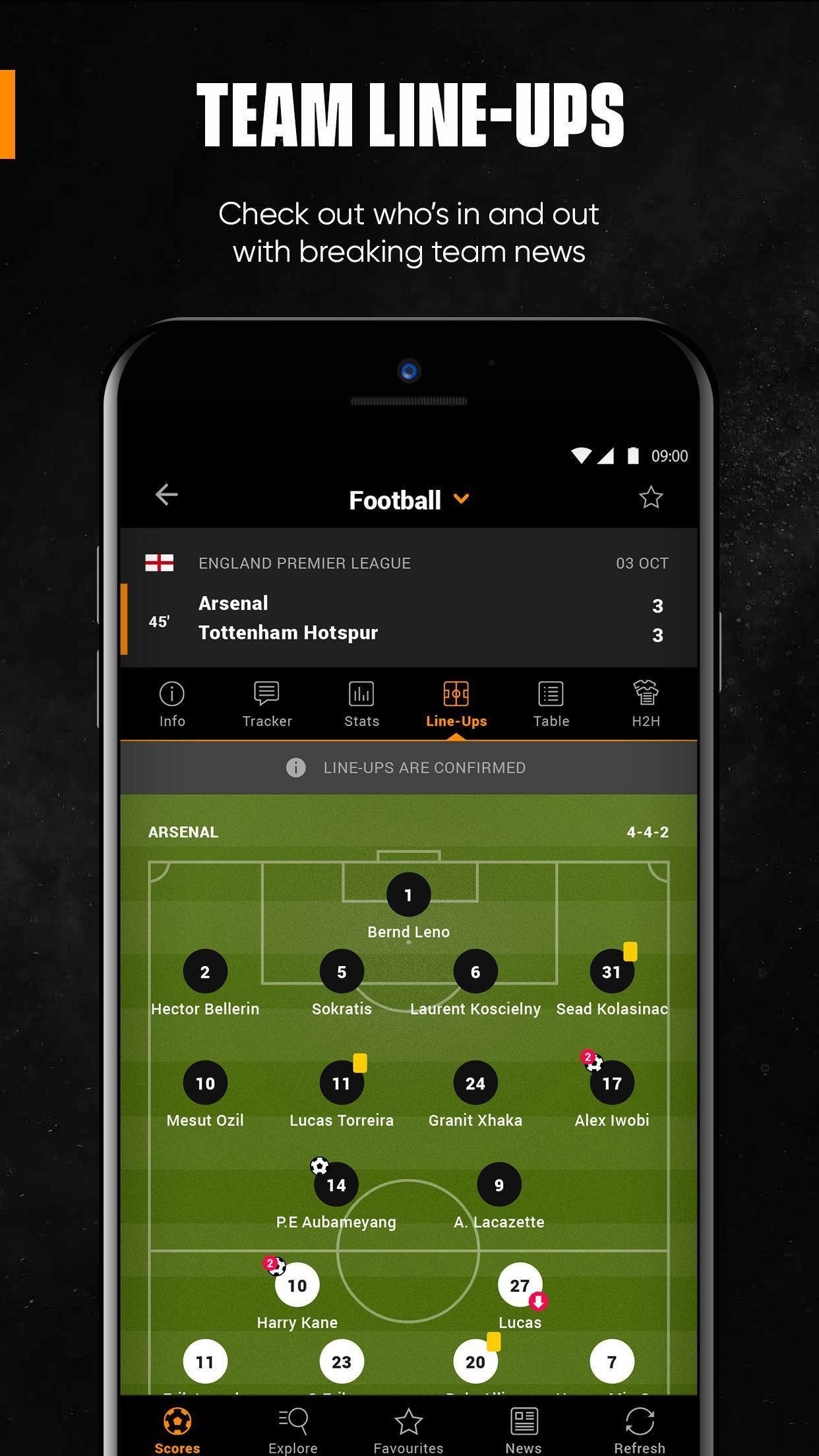 LiveScore Live Sport Updates 3.1.1 Screenshot 5