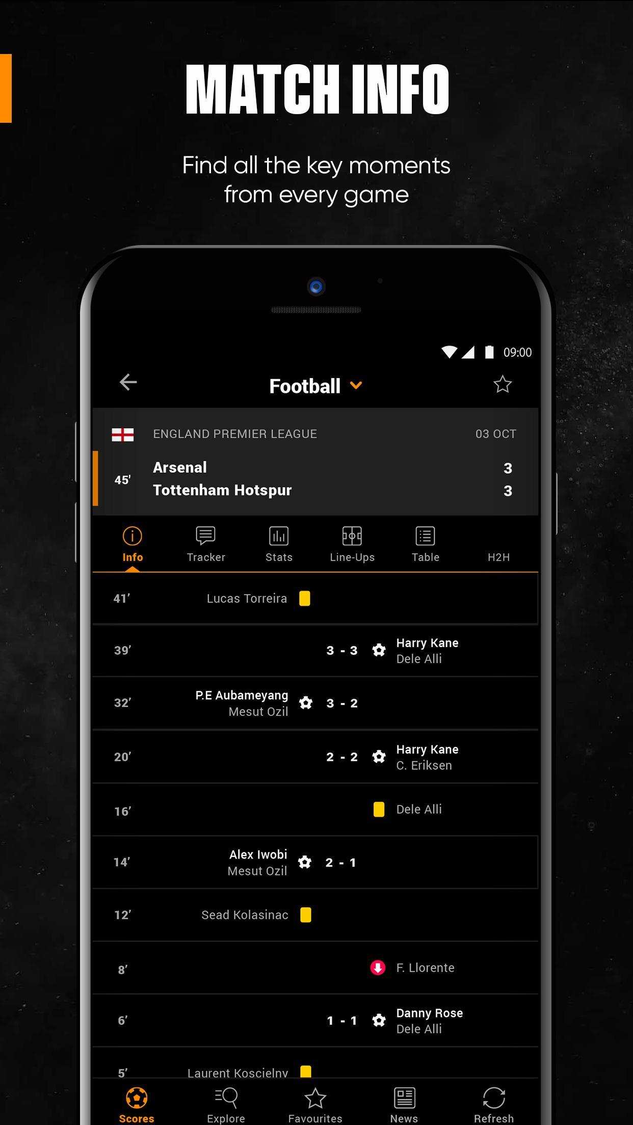 LiveScore Live Sport Updates 3.1.1 Screenshot 6