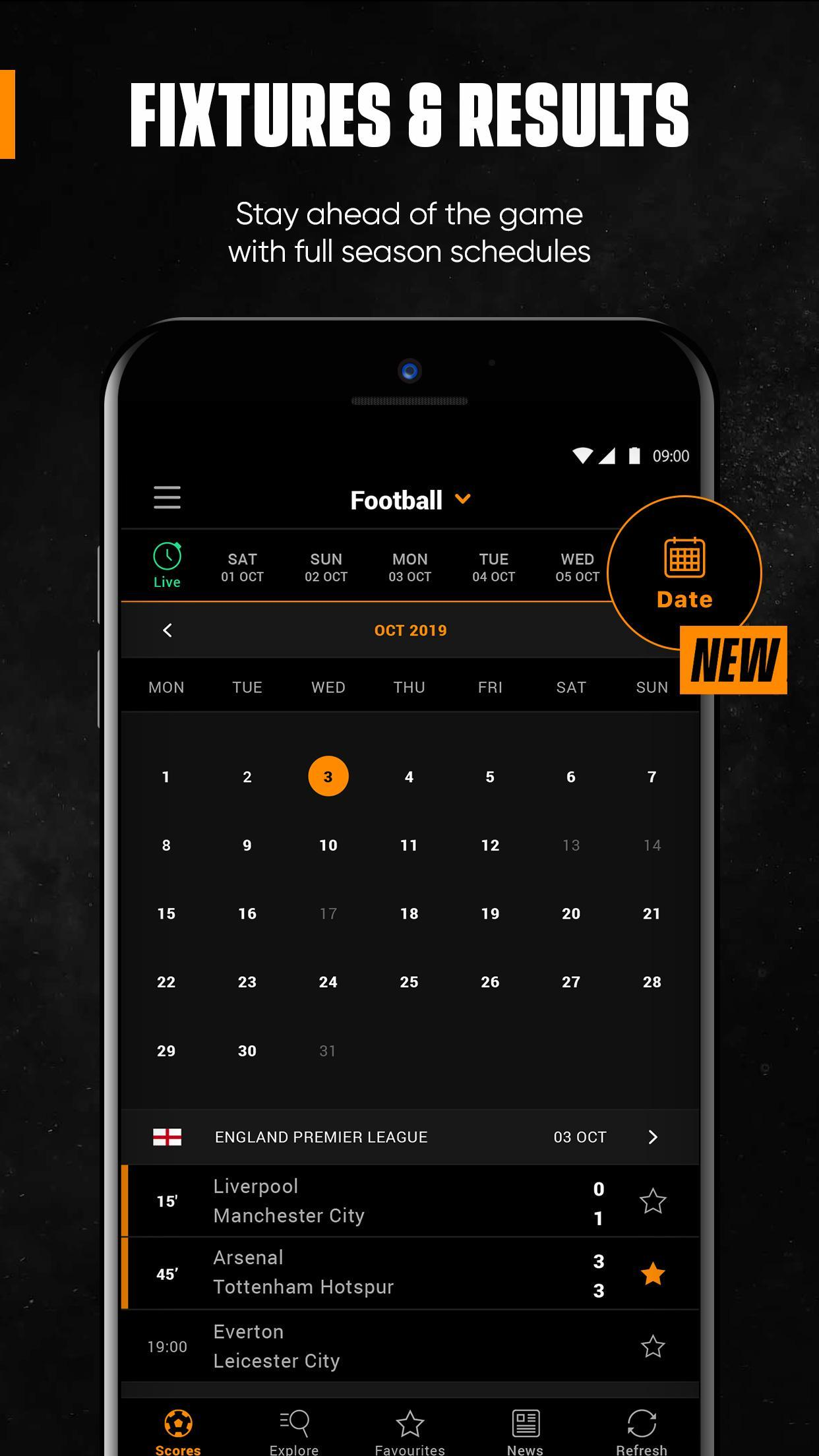 LiveScore Live Sport Updates 3.1.1 Screenshot 7
